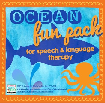 Ocean Fun Pack {for speech & language therapy!}