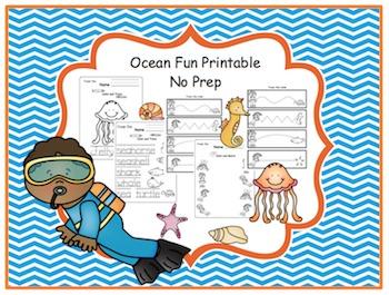 Ocean Fun Printable No Prep