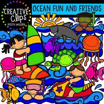 Ocean Fun and Friends {Creative Clips Digital Clipart}