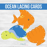 Ocean Lacing Cards