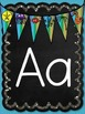 Ocean Chalkboard Letters A-Z Word Wall Labels Posters Banners