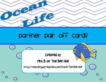 Partner Pair Off Cards Ocean Life