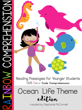 Ocean Life-Rainbow Comprehension for Young Students