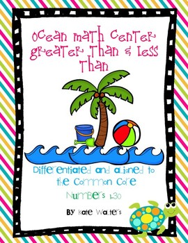 Ocean Math Center Greater Than & Less Than {Aligned to Com