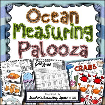 Ocean Measuring Palooza -- Ocean Animals Measurement Math Centers