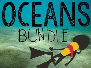 Exploring Oceans Mega-Bundle: Math & Literacy Center Activities