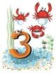 """Ocean Numbers Posters 8 1/2"""" X 11"""" Numbers 1-10"""