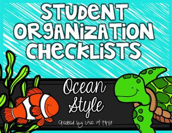 Editable Organization Checklists: Ocean