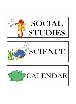Ocean Schedule Cards