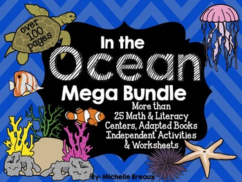 Ocean & Sea Life Unit Math and Literacy Activities {specia