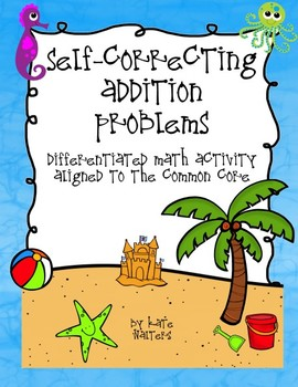Ocean Self-Correcting Addition Center {Differentiated and