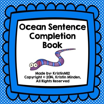 Ocean Sentence Completion Book