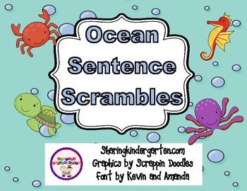 Ocean Sentence Scrambles