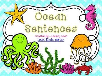 Ocean Sentences  {Pocket Chart Stations}