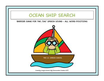Ocean Ship Search Barrier Game for /SH/: All Word Position