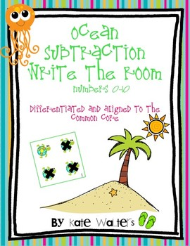 Ocean Subtraction Write the Room {Differentiated & Aligned