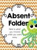 Ocean Theme Absent Folders {Editable}