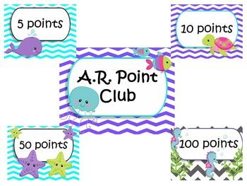 Ocean Theme-Accelerated Reading Chart (AR)