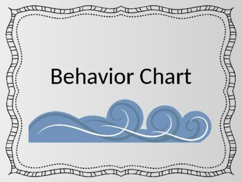 Ocean Theme Behavior Chart