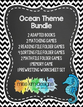 Ocean Theme Bundle: 14 Ocean Themed Products for Special E