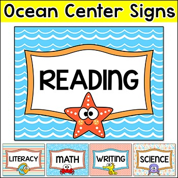 Ocean Theme Centers Signs