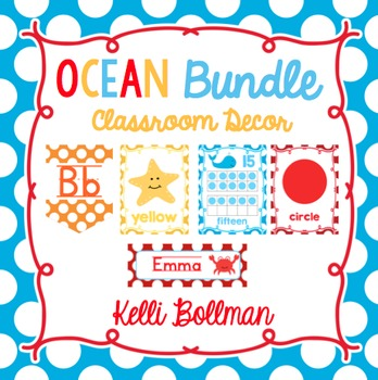 Ocean Theme Classroom Decor BUNDLE