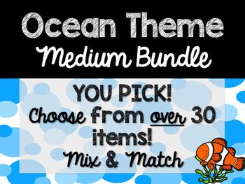Ocean Theme Classroom Decor: Build Your Own Medium Bundle