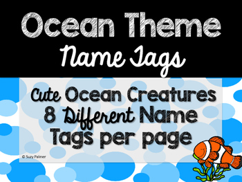 Ocean Theme Classroom Decor: Name Tags