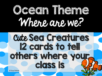 Ocean Theme Classroom Decor: Where Are We? Sign