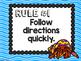 Ocean Theme Classroom Decor: Whole Brain Teaching Rules FREEBIE