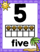 Ocean Theme Classroom Number Posters