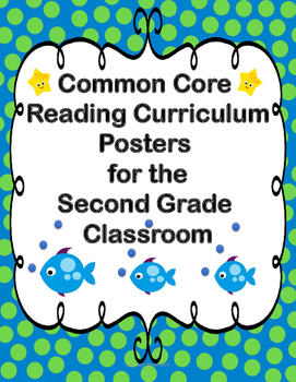 Ocean Theme Reading Common Core Standards Posters for Seco