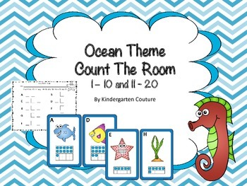 Ocean Theme Count The Room -Ten Frames 1-10 and 11-20
