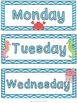 Ocean Theme Days of the Week