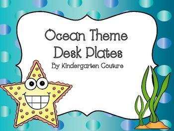 Ocean Theme Desk Plates
