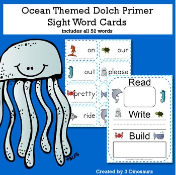 Ocean Theme Dolch Primer Sight Words