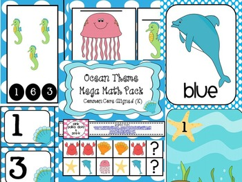 Ocean Theme Mega Math Pack ~ Number Recognition, Counting,
