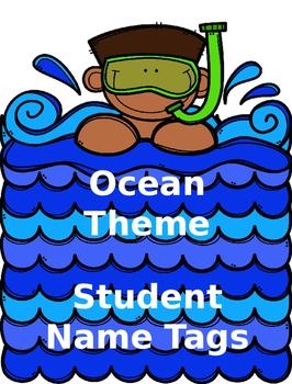Ocean Theme Name Tags (Editable)