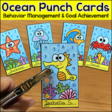 Ocean Theme Punch Cards Behavior Management Tool