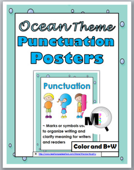 Ocean Theme Punctuation Posters