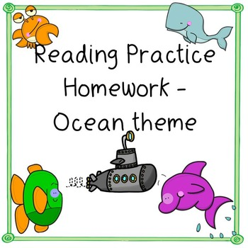 Ocean Theme Reading Practice - Sight words from reading street