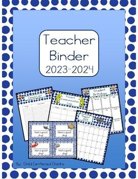 Teacher Organizational Binder 2016-2017 Ocean Theme