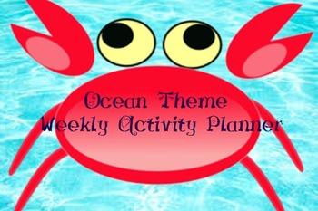 Ocean Theme - Weekly Learning Planner
