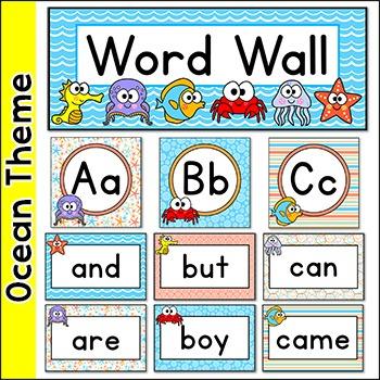 Sight Words Word Wall - Ocean Theme
