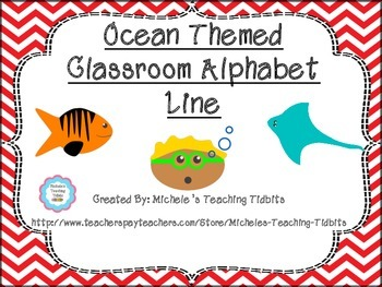 Ocean Themed Alphabet Line