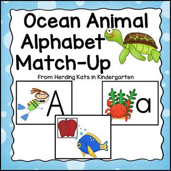 Ocean Themed Alphabet Match-Up