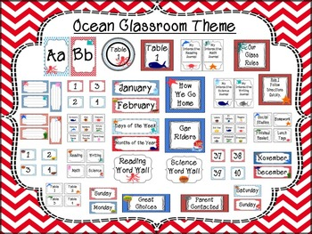 Ocean Themed Classroom Decor