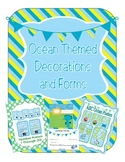 Ocean Themed Classroom Calendar, Decor, Forms, Displays (m