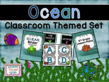Ocean Themed Classroom Set with Editables {ABC & Number Li