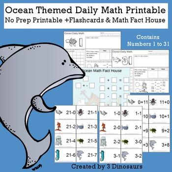 Ocean Themed Daily Math